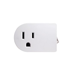 3-Prong Grounded Switched Outlet - White