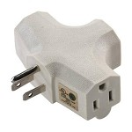 Master Electrician Grounded 3 Outlet Adapter