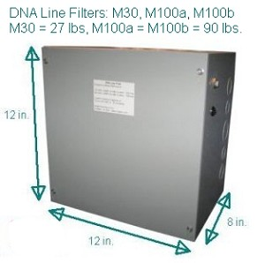 DNA Line Filter M30 - 30 amp - in-line filter