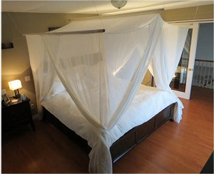Premium Handmade Bed Canopy - Swiss Shield Naturell (Best Blocking)